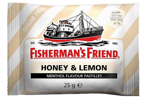 סוכריות פישרמאנס לימון דבש צהוב 1/24  (2390)