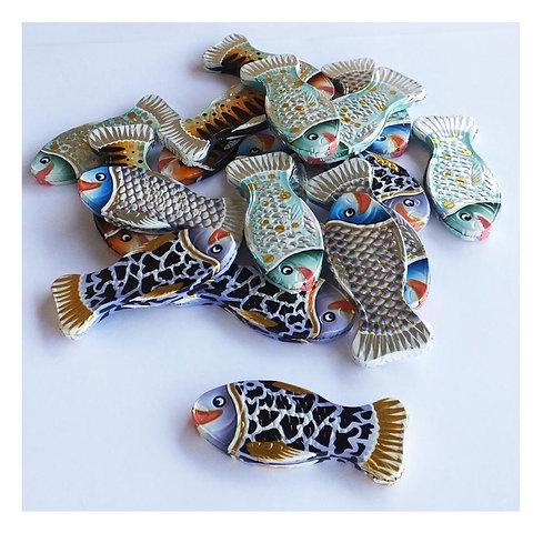 """מטבעות מולטיזן דגים צבעוני 1 ק""""ג  1/10  (799)"""