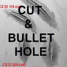 CUT & BULLET HOLE