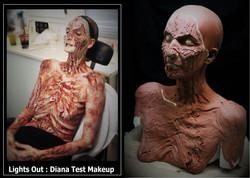 Lights Out Diana Test Makeup