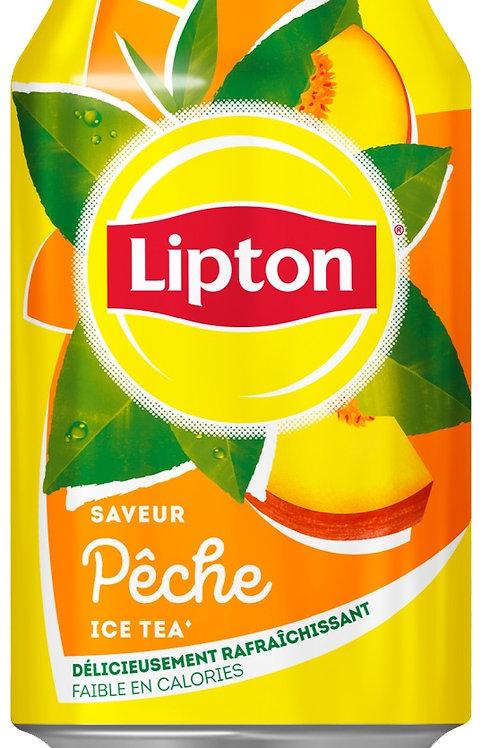 """משקה תה ליפטון אפרסק 330 מ""""ל  1/24"""