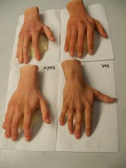 Slip on hands