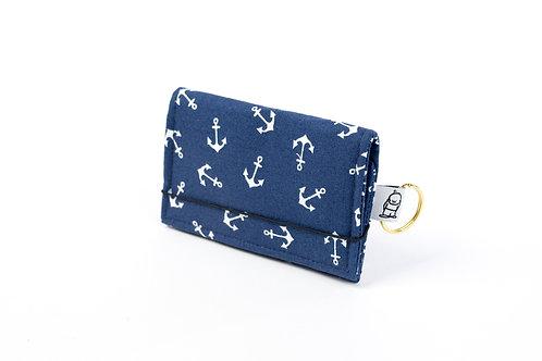 Card Wallet /Navy Anchor