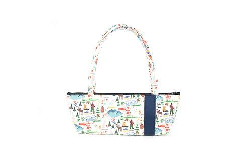 Tomboy Zippered Fabric Handbag,MAINE