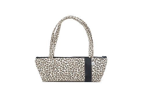 Tomboy Zippered Fabric Handbag,Leopard