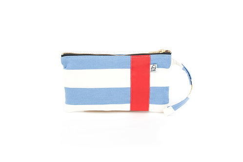 Wristlet, Clutch, Zippered Pouch, CF Stripe