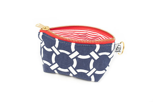 Charlie Change Purse/ Navy Knot
