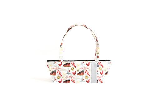 Tomboy Zippered Fabric Handbag, Rhode Island