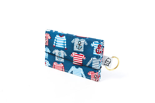 Card Wallet / Striped Shirt