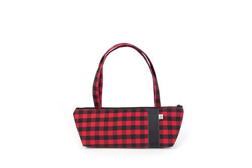 Tomboy Zippered Fabric Handbag, BUFFALO CHECK