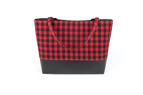 Big Boy Commuter Tote/ Buffalo Check