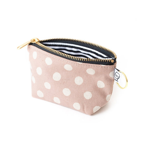 Charlie Change Purse/Mauve Dot