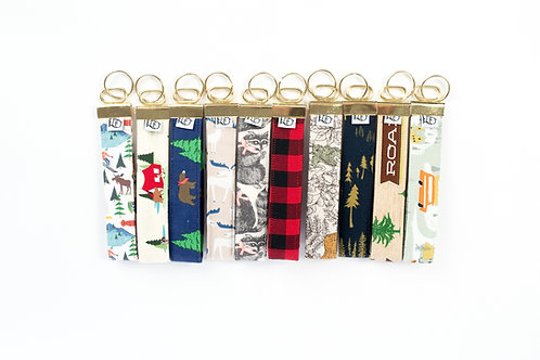 Fabric Key Fobs ( Set of ten, Lodge Collection)
