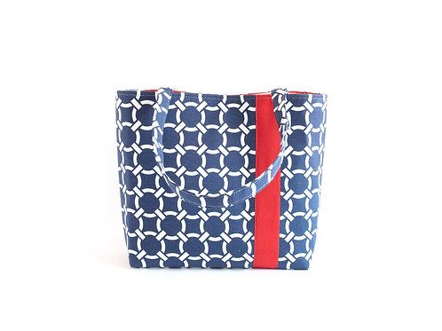 Workforce Navy Knot Fabric Tote Bag, Vegan Handbag, Carry All, Fabri