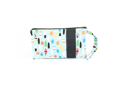 Wristlet, Clutch, Zippered Pouch,Teal buoy