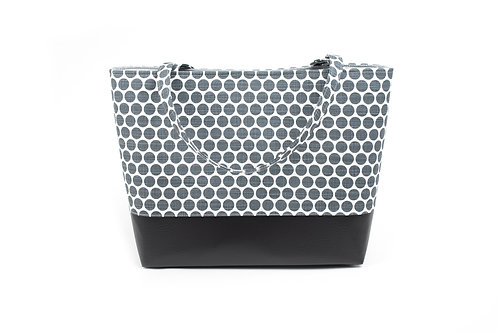 Big Boy Commuter Tote/ Grey Dot