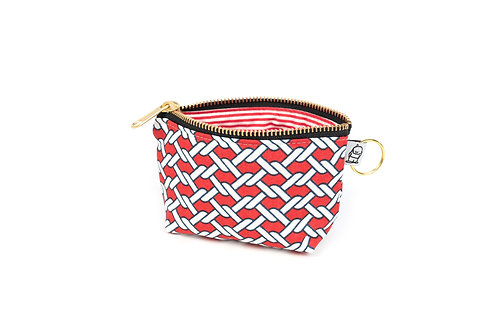 Charlie Change Purse/ Red Knot