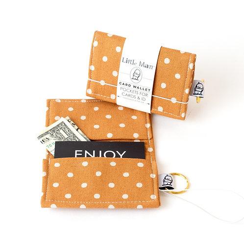 Card Wallet / caramel dot