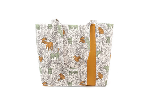 Workforce Fabric Tote Bag, Vegan Handbag, Carry All,Mustard Moose