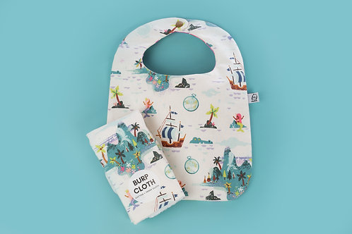 Bib and Burp Set / Mermaid