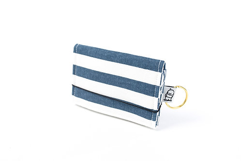 Card Wallet / Navy Stripe