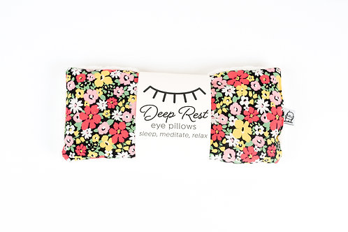 Deep Rest Eye Pillows by Little Man / Black Floral