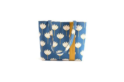 Workforce Lotus Fabric Tote Bag, Vegan Handbag, Carry All, F