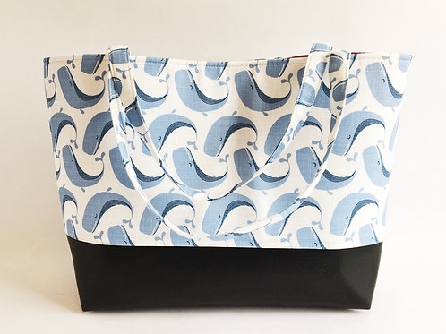 Big Boy Commuter Tote/Whale