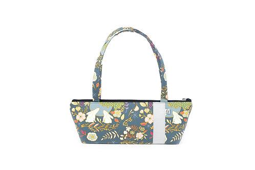 Tomboy Zippered Fabric Handbag, BUNNY/GREY