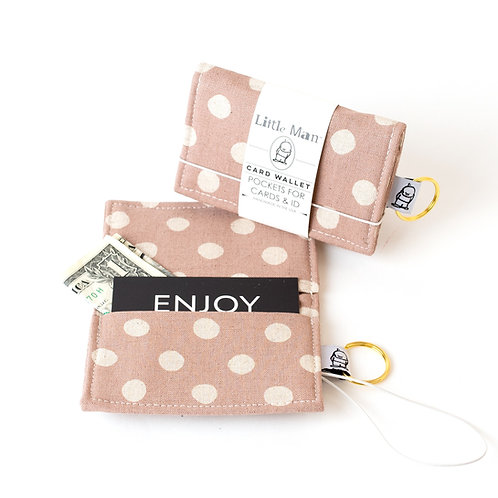 Card Wallet / Mauve Dot