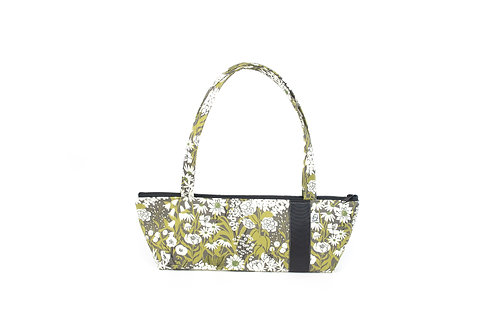 Tomboy Zippered Fabric Handbag,OLIVE FLORAL