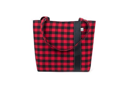 Workforce Fabric Tote Bag, Vegan Handbag, Carry All ,Buffalo Check