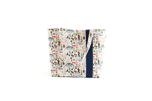Workforce Maine Fabric Tote Bag, Vegan Handbag, Carry All, F