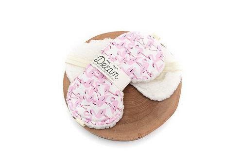Sleep mask /  Cotton Sleep Mask / Flamingo