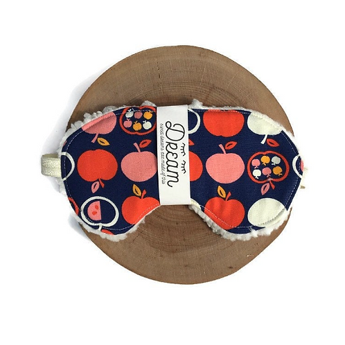 Sleep mask /  Cotton Sleep Mask / apple