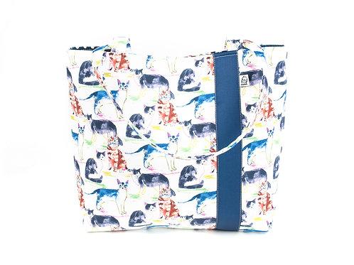 Workforce Fabric Tote Bag, Vegan Handbag, Carry All ,WC Cat
