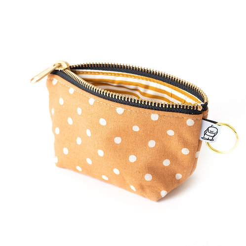 Charlie Change Purse/Caramel Dot