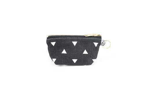 Charlie Change Purse/ Black triangle