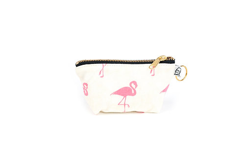 Charlie Change Purse/ Flamingo