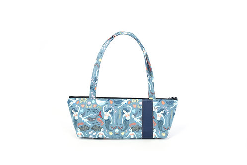 Tomboy Zippered Fabric Handbag,MERMAID