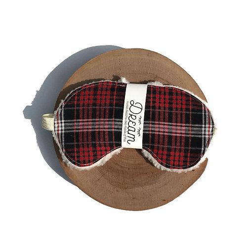 Sleep mask /  Cotton Sleep Mask / Plaid