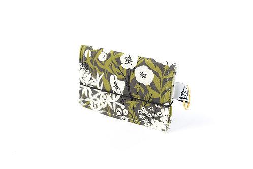 Card Wallet /Olive Floral