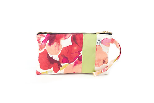 Wristlet, Clutch, Zippered Pouch,WC Floral