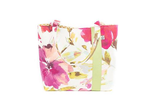 Workforce Fabric Tote Bag, Vegan Handbag, Carry All ,WC Floral