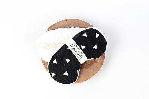 Sleep mask /  Cotton Sleep Mask / Black Triangle