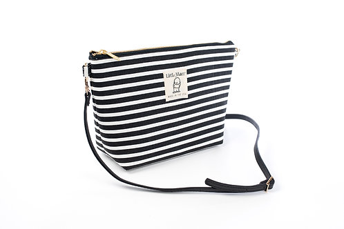B.O.O.N Bag / Crossbody Bag / Black and White stripe