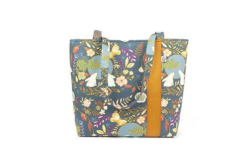 Workforce Bunny Fabric Tote Bag, Vegan Handbag, Carry All, F