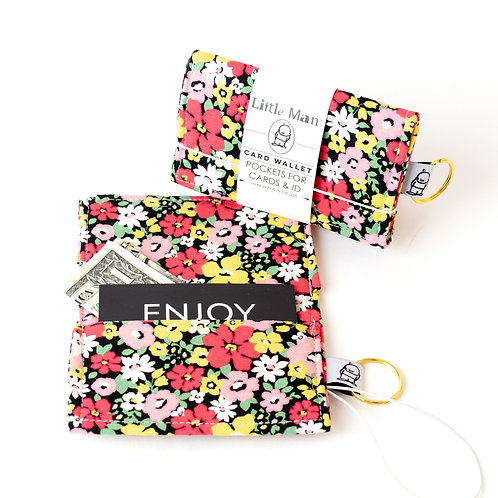 Card Wallet /Black Floral