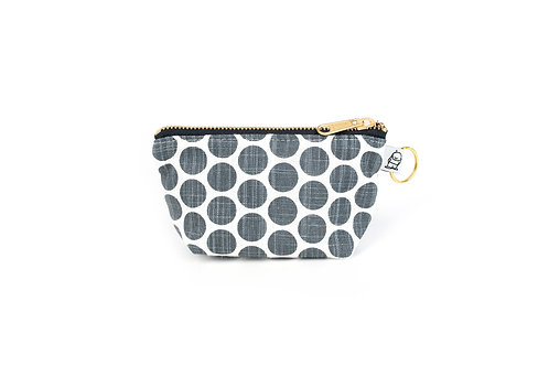 Charlie Change Purse/ Grey Dot