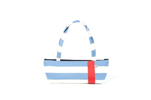 Tomboy Zippered Fabric Handbag, CF STRIPE